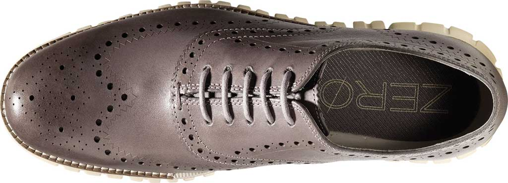 Men's Cole Haan ZEROGRAND Wingtip Oxford, Ironstone Leather, large, image 4