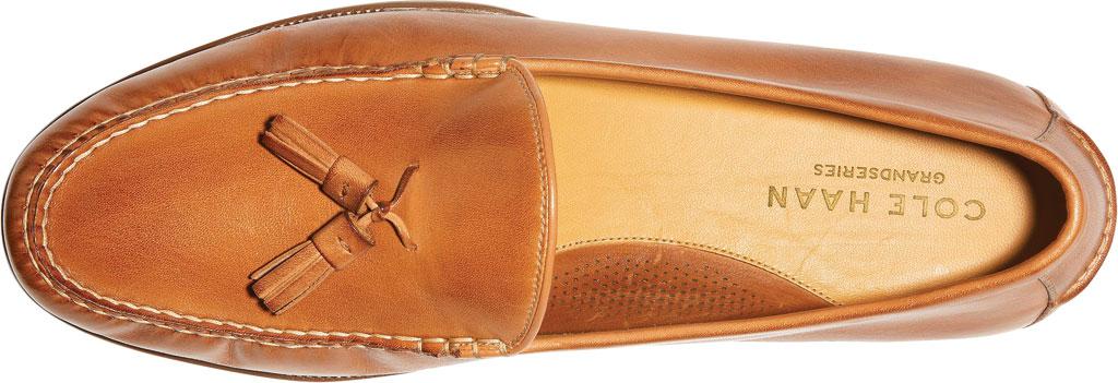 Men's Cole Haan Hayes Tassel Kiltie Loafer, Saddle Tan Leather, large, image 4