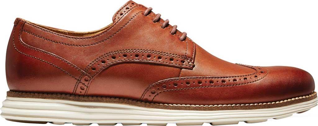 Men's Cole Haan Original Grand Wingtip Oxford, Woodbury/Ivory Leather, large, image 2
