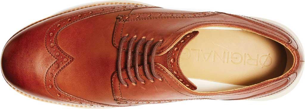 Men's Cole Haan Original Grand Wingtip Oxford, Woodbury/Ivory Leather, large, image 4
