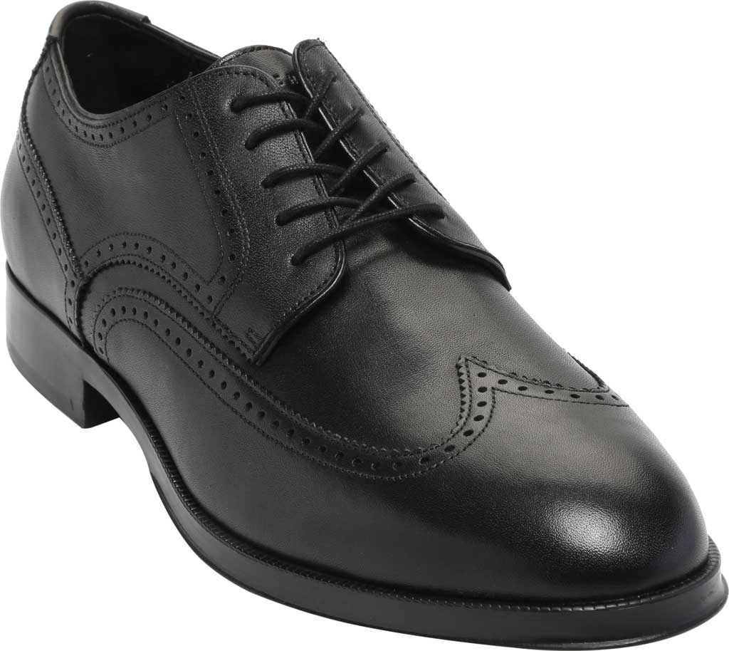 Men's Cole Haan Dawson Grand 360 Wing Tip Oxford, Black Waterproof Leather, large, image 1