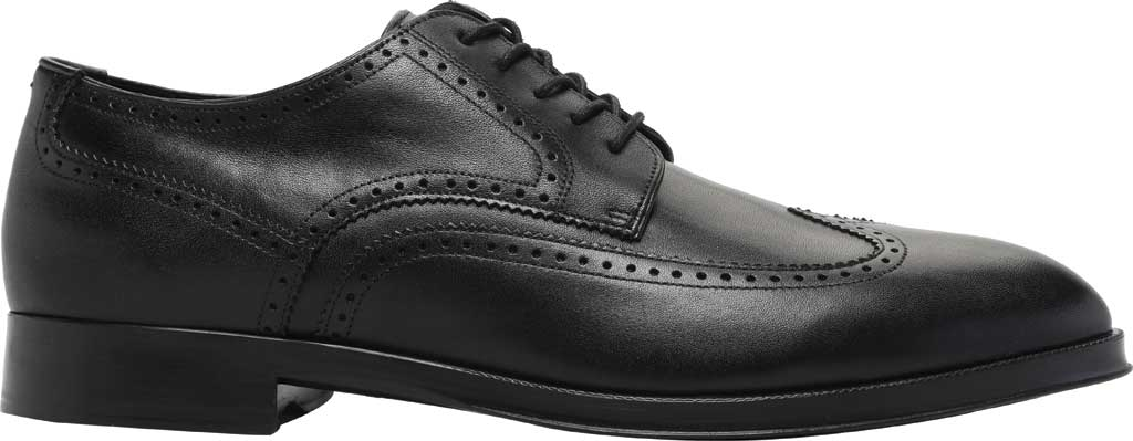 Men's Cole Haan Dawson Grand 360 Wing Tip Oxford, Black Waterproof Leather, large, image 2