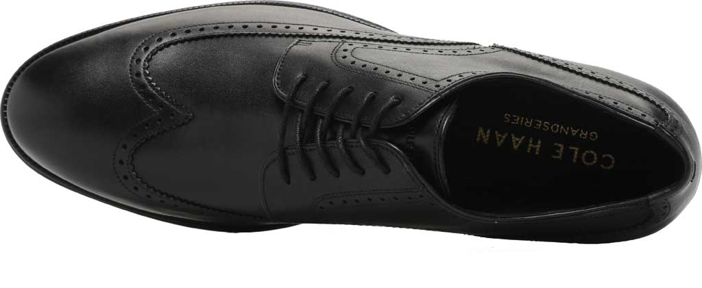 Men's Cole Haan Dawson Grand 360 Wing Tip Oxford, Black Waterproof Leather, large, image 5