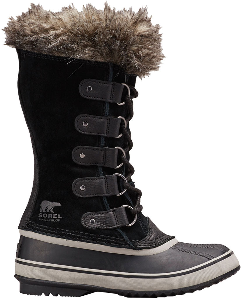 Women's Sorel Joan Of Arctic Lace Boot, Black/Quarry Suede, large, image 1