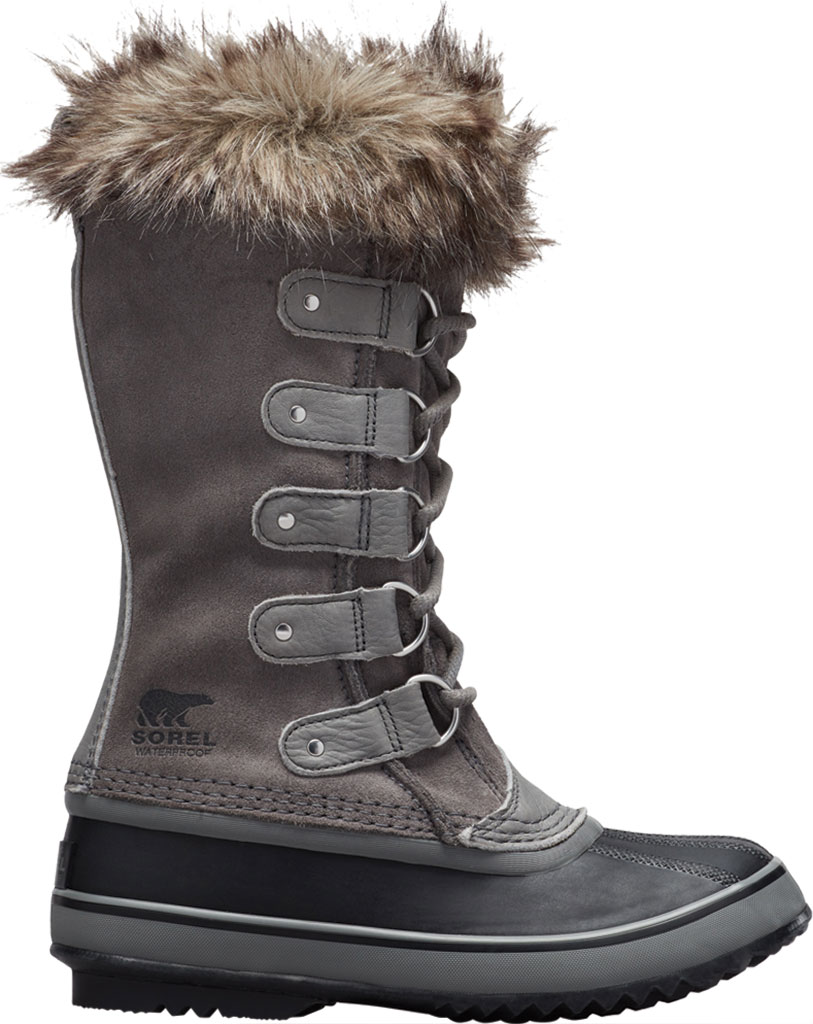 Women's Sorel Joan Of Arctic Lace Boot, Quarry/Black Suede, large, image 1