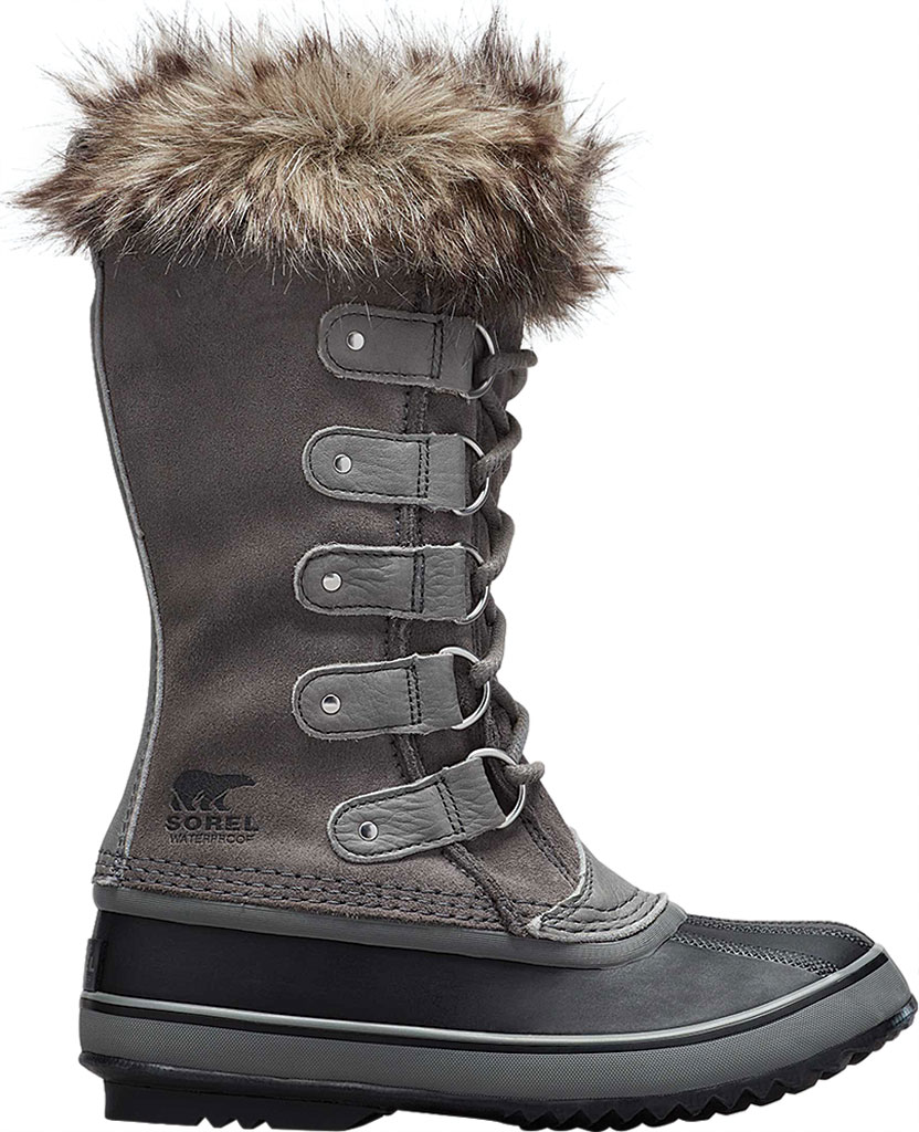 Women's Sorel Joan Of Arctic Lace Boot, Quarry/Black Suede, large, image 2