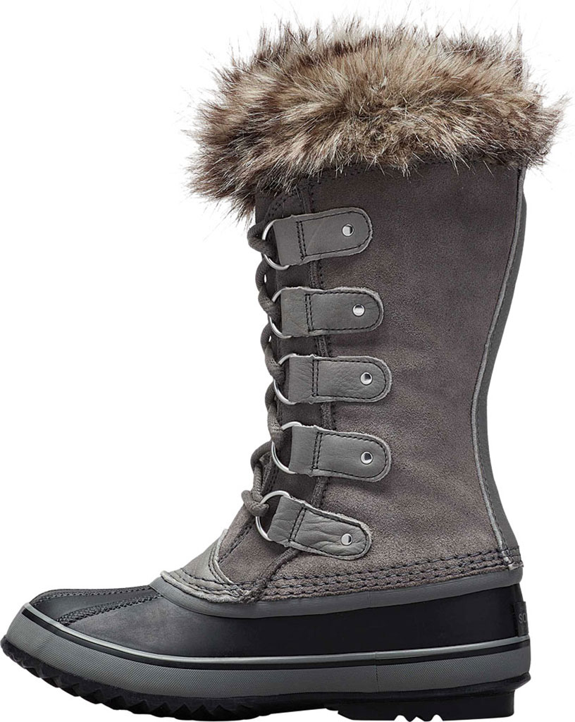 Women's Sorel Joan Of Arctic Lace Boot, Quarry/Black Suede, large, image 3