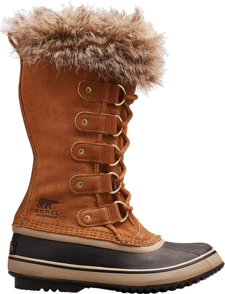 Women's Sorel Joan Of Arctic Lace Boot, Camel Brown/Black Suede, large, image 1