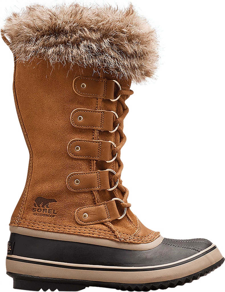 Women's Sorel Joan Of Arctic Lace Boot, Camel Brown/Black Suede, large, image 2