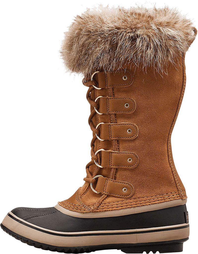 Women's Sorel Joan Of Arctic Lace Boot, Camel Brown/Black Suede, large, image 3