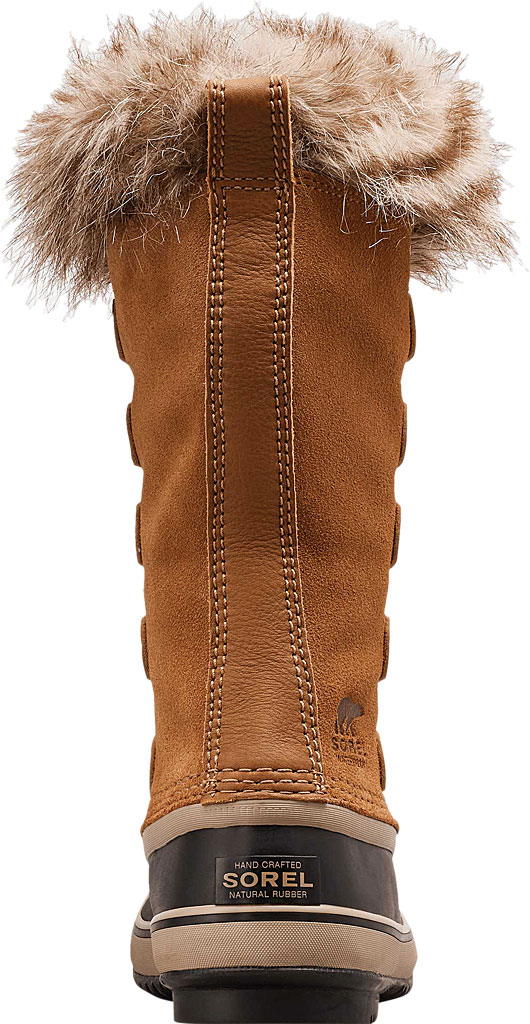 Women's Sorel Joan Of Arctic Lace Boot, Camel Brown/Black Suede, large, image 4