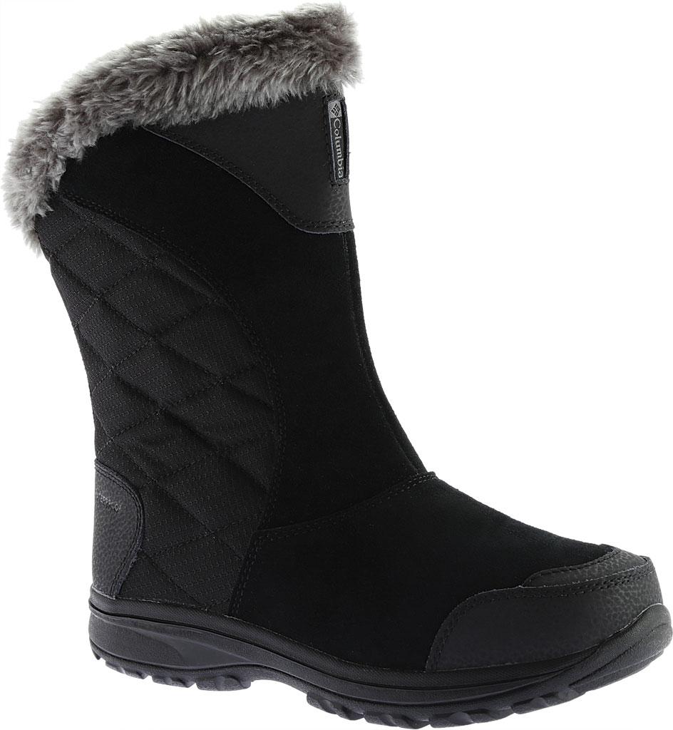 Women's Columbia Ice Maiden II Slip Boot, Black/Shale, large, image 1