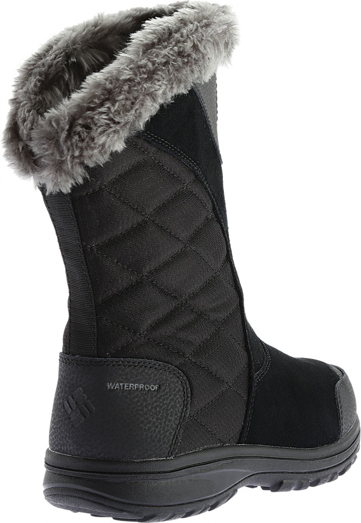 Women's Columbia Ice Maiden II Slip Boot, Black/Shale, large, image 4