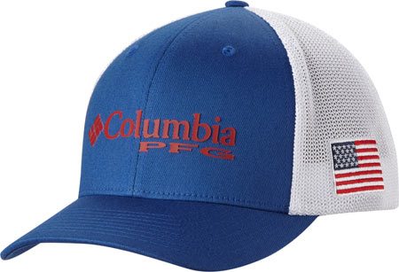 Columbia Mesh Ball Cap PFG, Mountain Blue, large, image 1