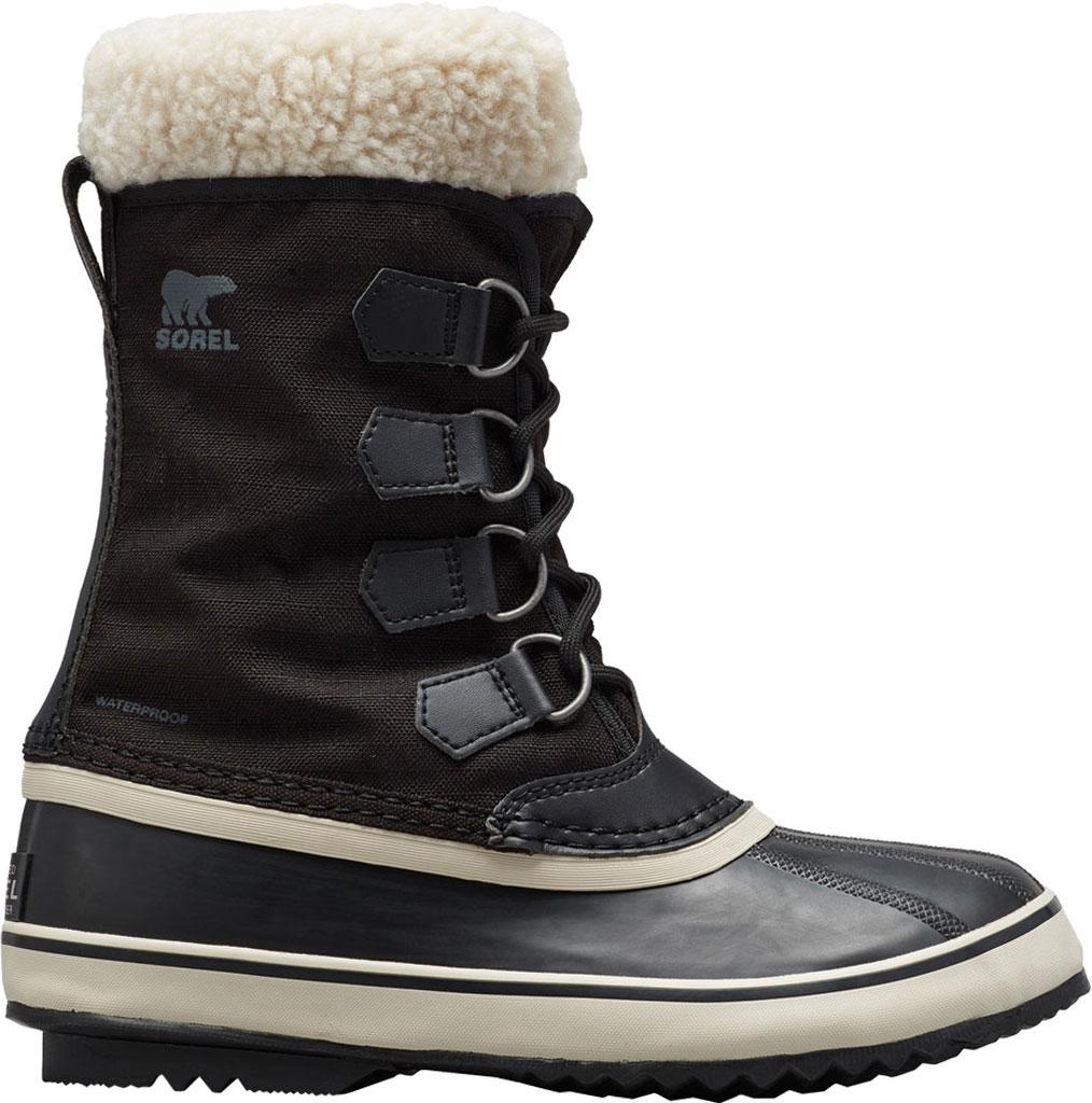 Women's Sorel Winter Carnival Boot, Black/Stone Nylon, large, image 1