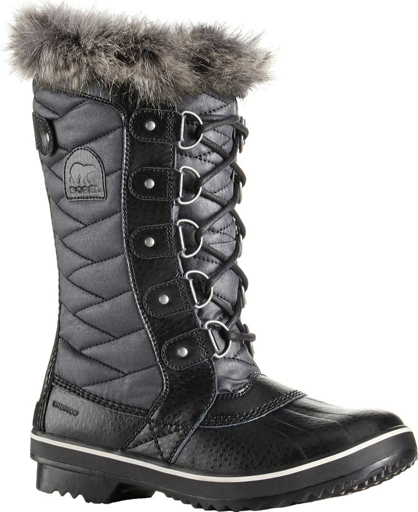 Women's Sorel Tofino II Boot, Black/Stone, large, image 1