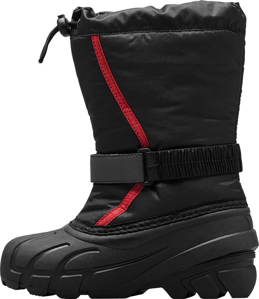 Children's Sorel Youth Flurry Boot, Black/Bright Red Synthetic/Textile, large, image 3