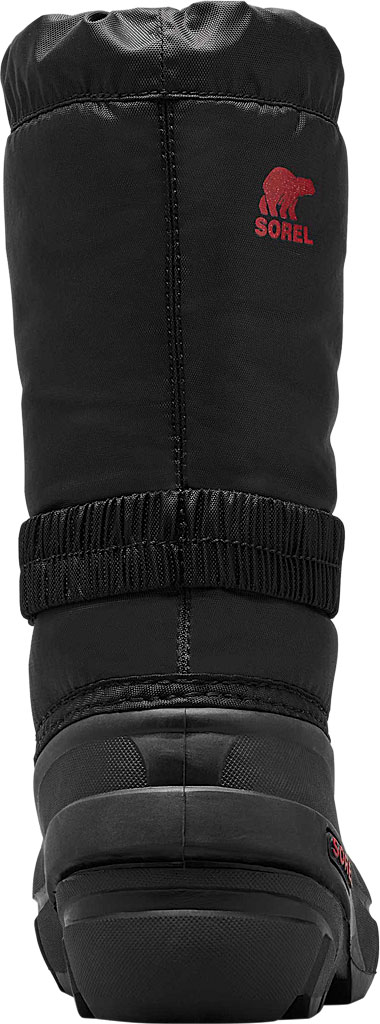 Children's Sorel Youth Flurry Boot, Black/Bright Red Synthetic/Textile, large, image 4