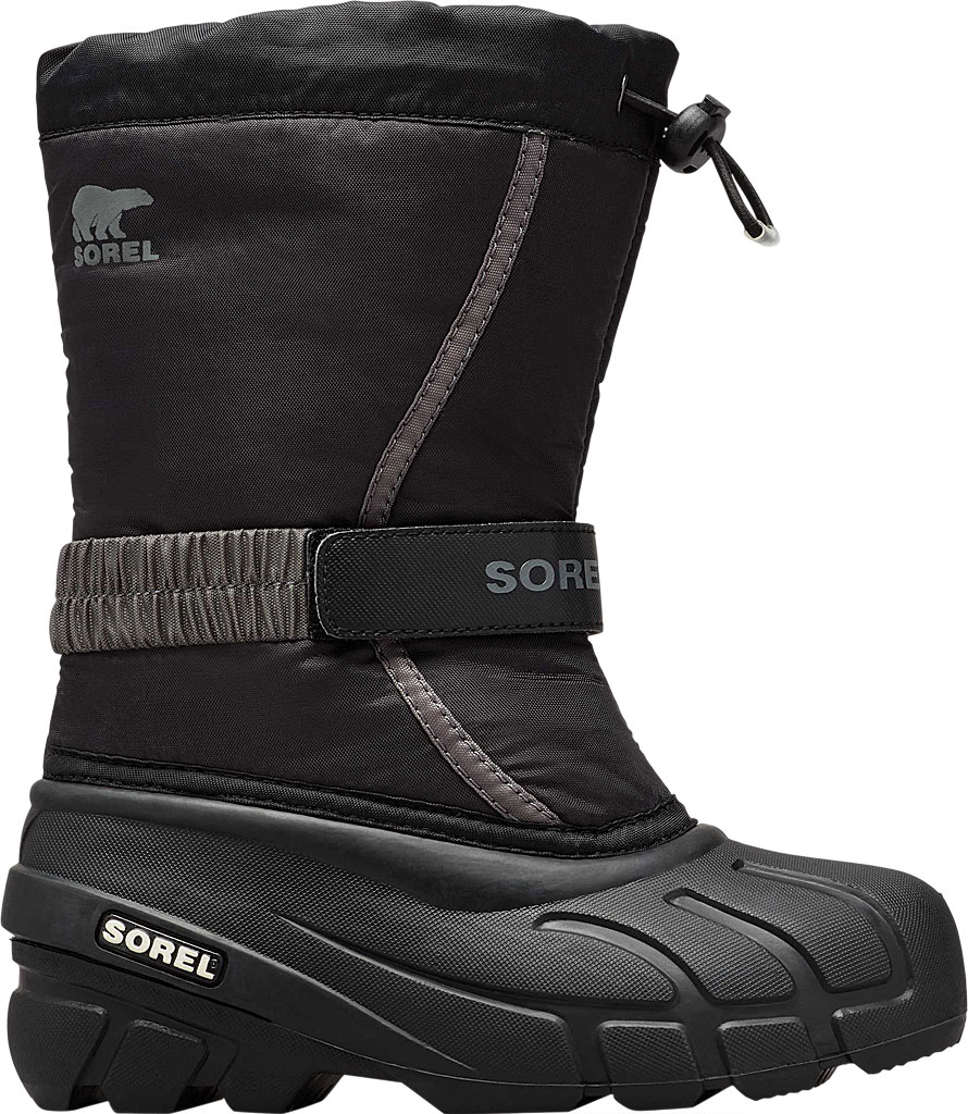 Children's Sorel Youth Flurry Boot, Black/City Grey Synthetic/Textile, large, image 2