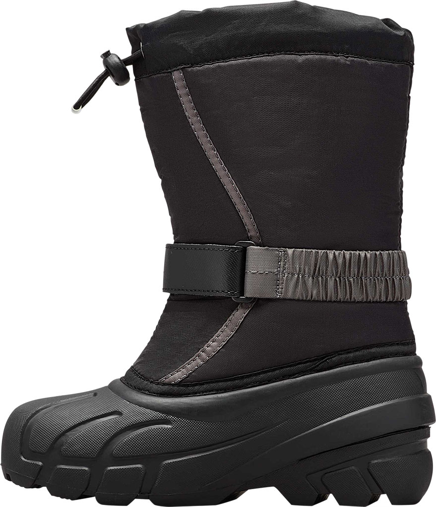 Children's Sorel Youth Flurry Boot, Black/City Grey Synthetic/Textile, large, image 3