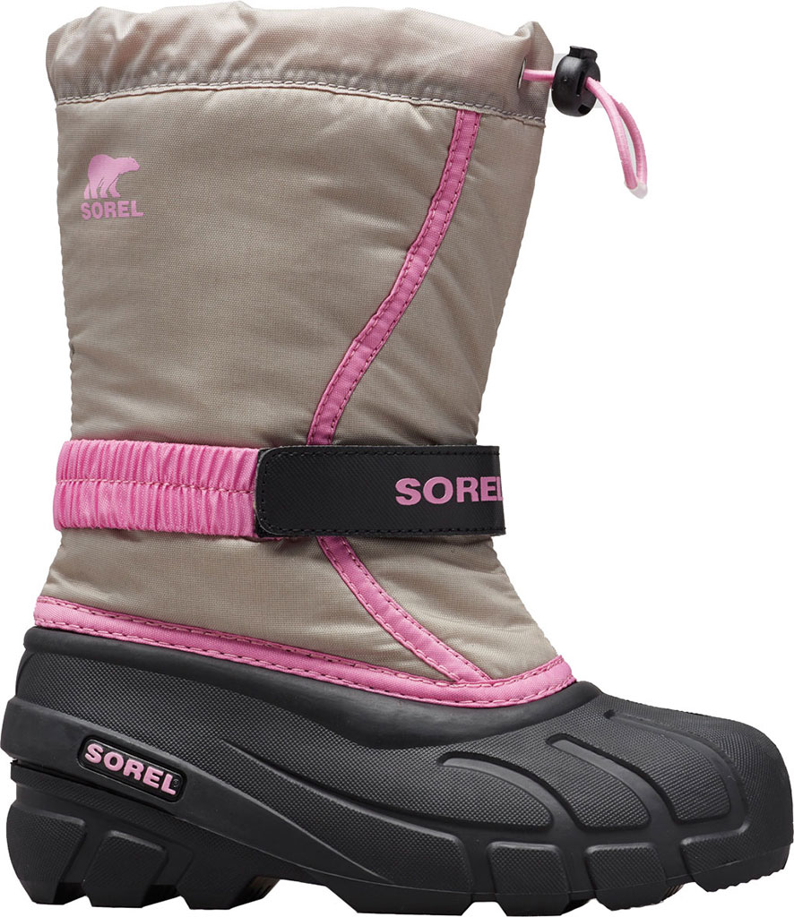 Children's Sorel Youth Flurry Boot, Chrome Grey Synthetic/Textile, large, image 1