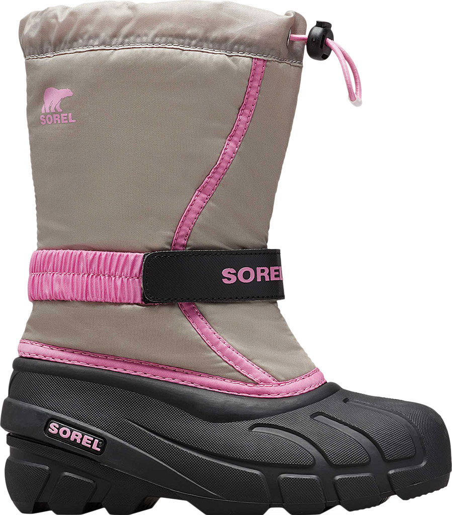 Children's Sorel Youth Flurry Boot, Chrome Grey Synthetic/Textile, large, image 2
