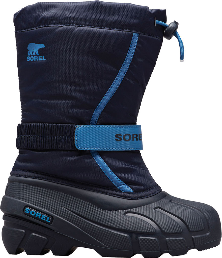 Children's Sorel Youth Flurry Boot, Collegiate Navy Synthetic/Textile, large, image 1
