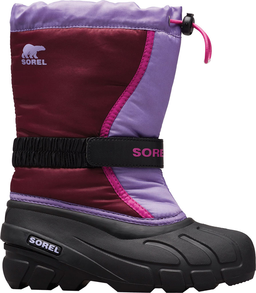 Children's Sorel Youth Flurry Boot, Purple Dahlia/Paisley Purple Synthetic/Textile, large, image 1