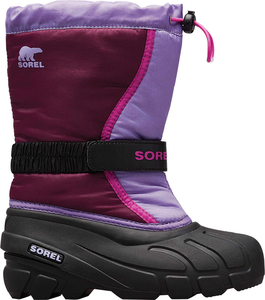 Children's Sorel Youth Flurry Boot, Purple Dahlia/Paisley Purple Synthetic/Textile, large, image 2