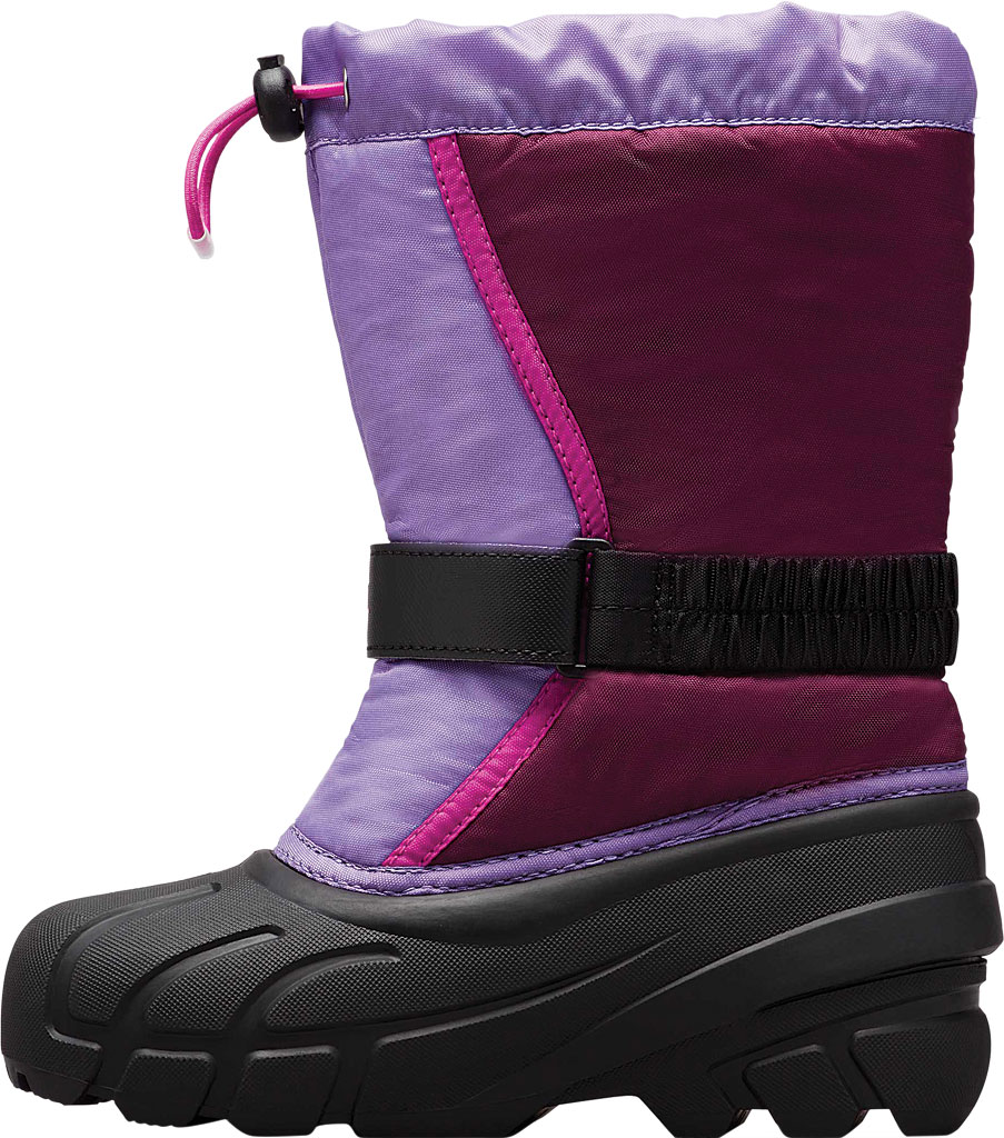 Children's Sorel Youth Flurry Boot, Purple Dahlia/Paisley Purple Synthetic/Textile, large, image 3