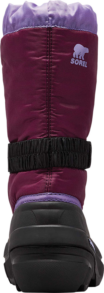 Children's Sorel Youth Flurry Boot, Purple Dahlia/Paisley Purple Synthetic/Textile, large, image 4