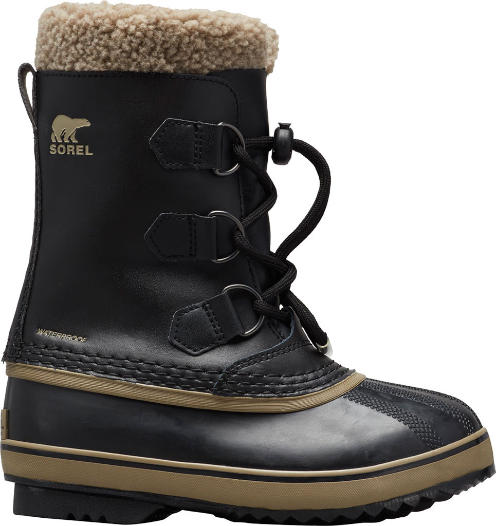 Children's Sorel Youth Yoot Pac TP Boot, Black/Black Leather, large, image 1