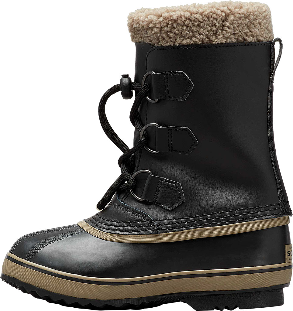 Children's Sorel Youth Yoot Pac TP Boot, Black/Black Leather, large, image 2