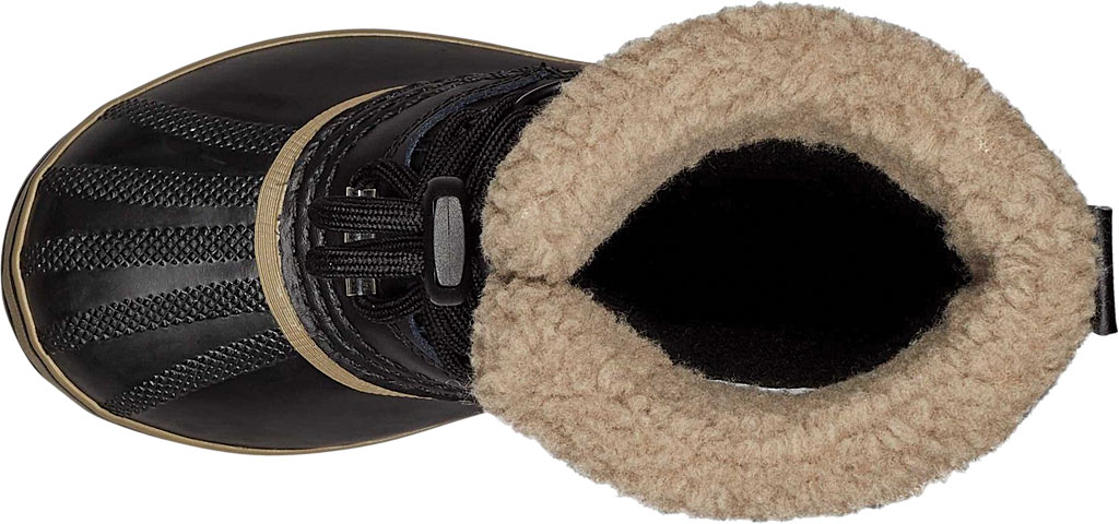 Children's Sorel Youth Yoot Pac TP Boot, Black/Black Leather, large, image 4