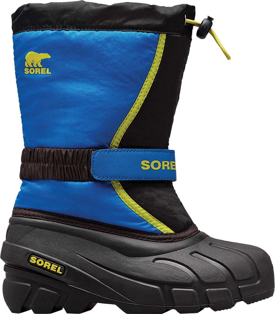 Children's Sorel Kids' Flurry Boot, Black/Super Blue Synthetic/Textile, large, image 2