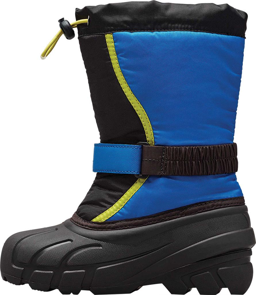 Children's Sorel Kids' Flurry Boot, Black/Super Blue Synthetic/Textile, large, image 3