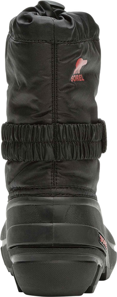 Children's Sorel Kids' Flurry Boot, Black/Bright Red Synthetic/Textile, large, image 4