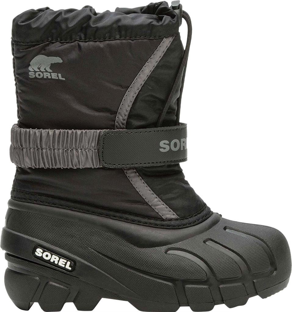Children's Sorel Kids' Flurry Boot, Black/City Grey Synthetic/Textile, large, image 2