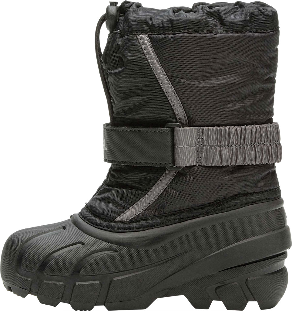 Children's Sorel Kids' Flurry Boot, Black/City Grey Synthetic/Textile, large, image 3
