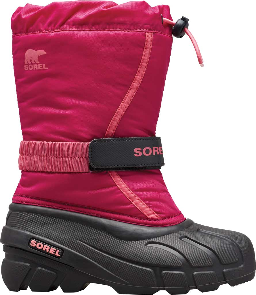 Children's Sorel Kids' Flurry Boot, Deep Blush/Tropic Pink Synthetic/Textile, large, image 1