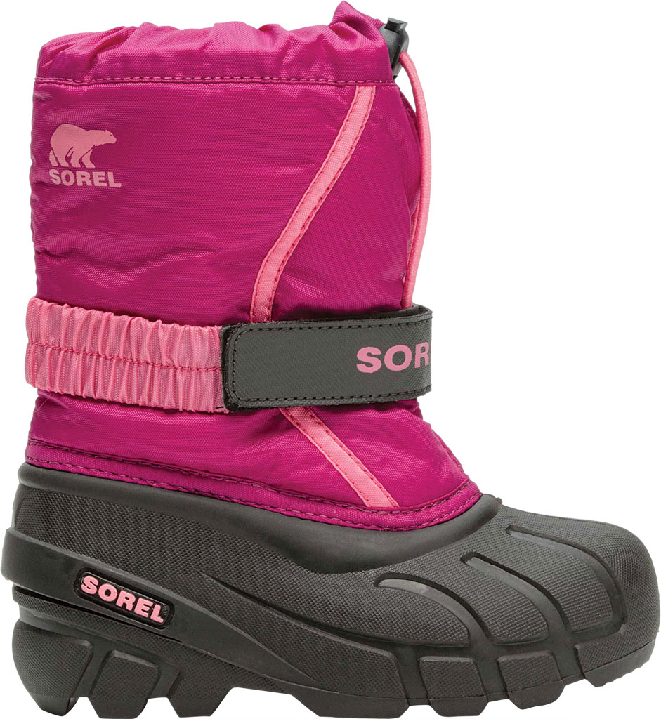 Children's Sorel Kids' Flurry Boot, Deep Blush/Tropic Pink Synthetic/Textile, large, image 2