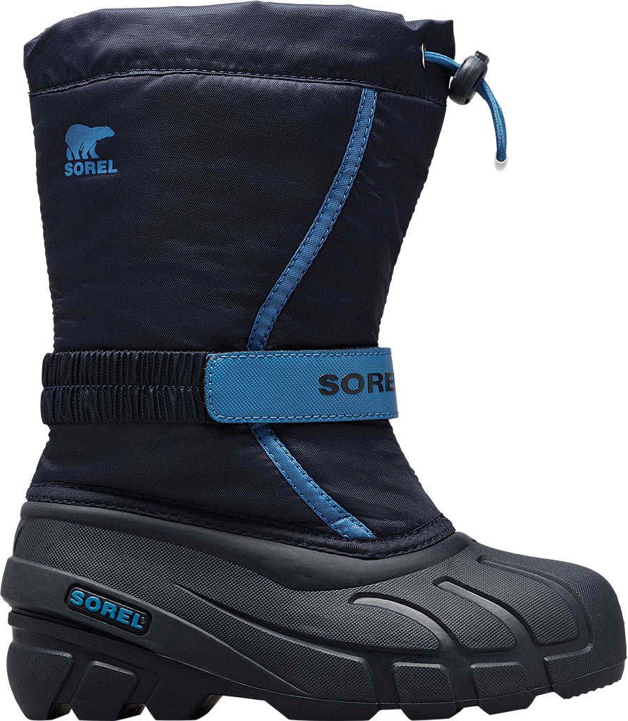 Children's Sorel Kids' Flurry Boot, Collegiate Navy/Atmosphere Synthetic/Textile, large, image 2