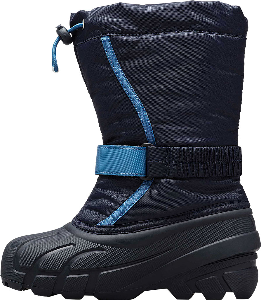 Children's Sorel Kids' Flurry Boot, Collegiate Navy/Atmosphere Synthetic/Textile, large, image 3