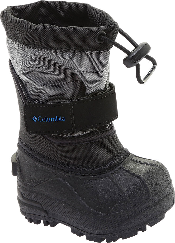 Infant Columbia Powderbug Plus II Boot, Black/Hyper Blue, large, image 1