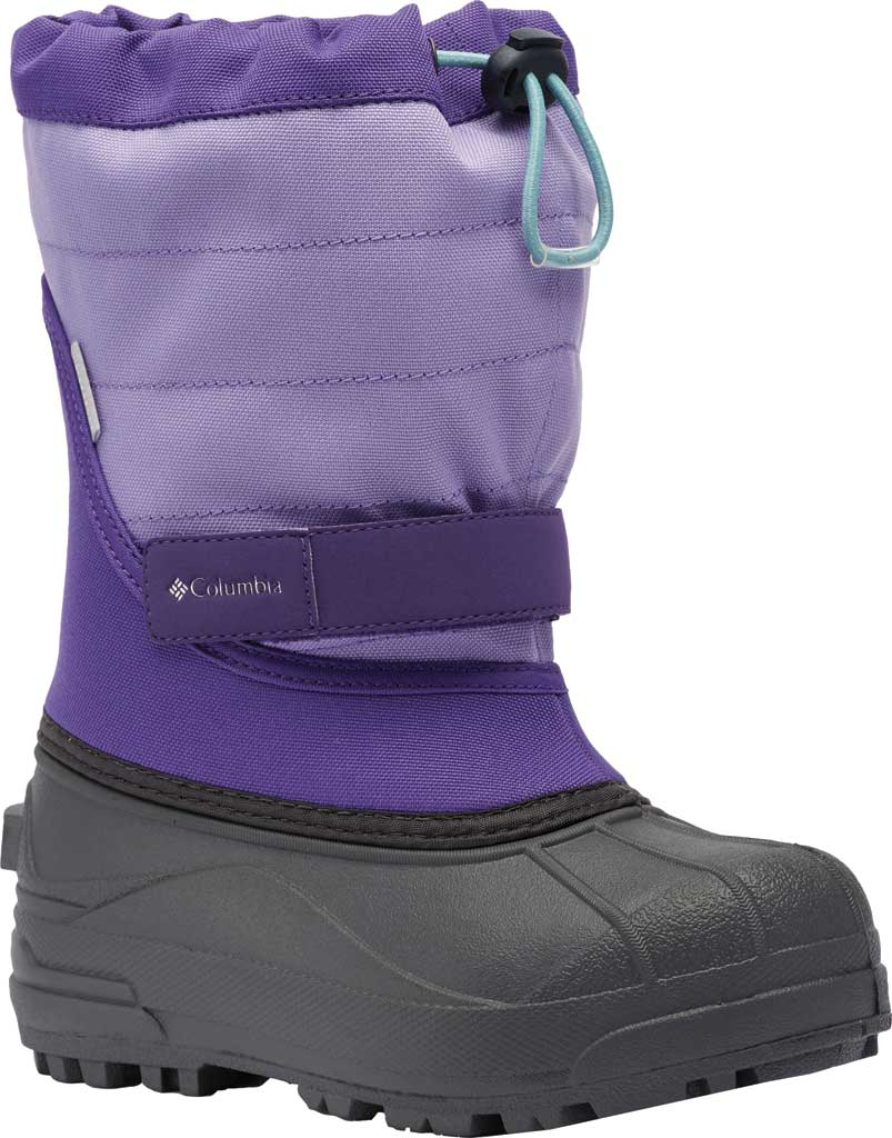 Children's Columbia Powderbug Plus II Boot, Emperor/Paisley Purple, large, image 1