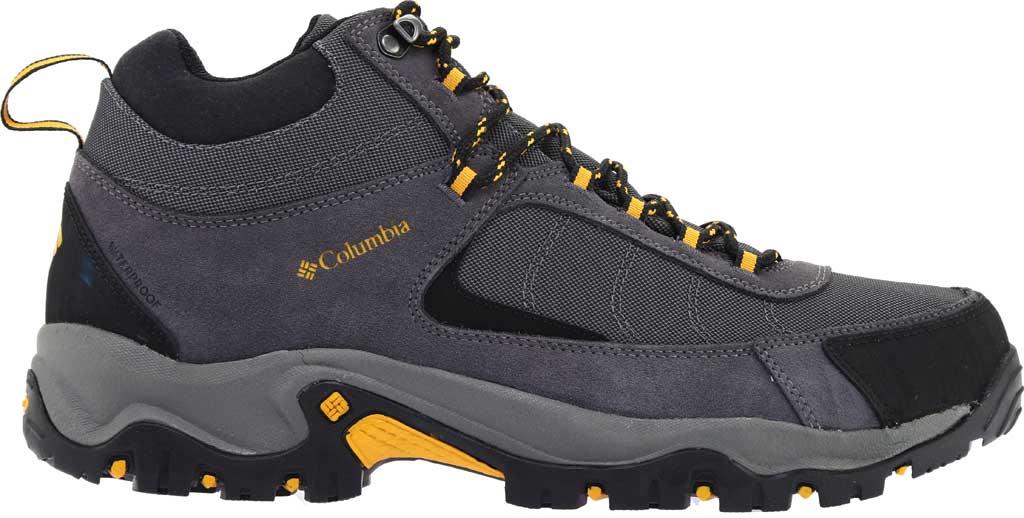 Men's Columbia Granite Ridge Mid Waterproof Hiking Boot, Dark Grey/Golden Yellow, large, image 2