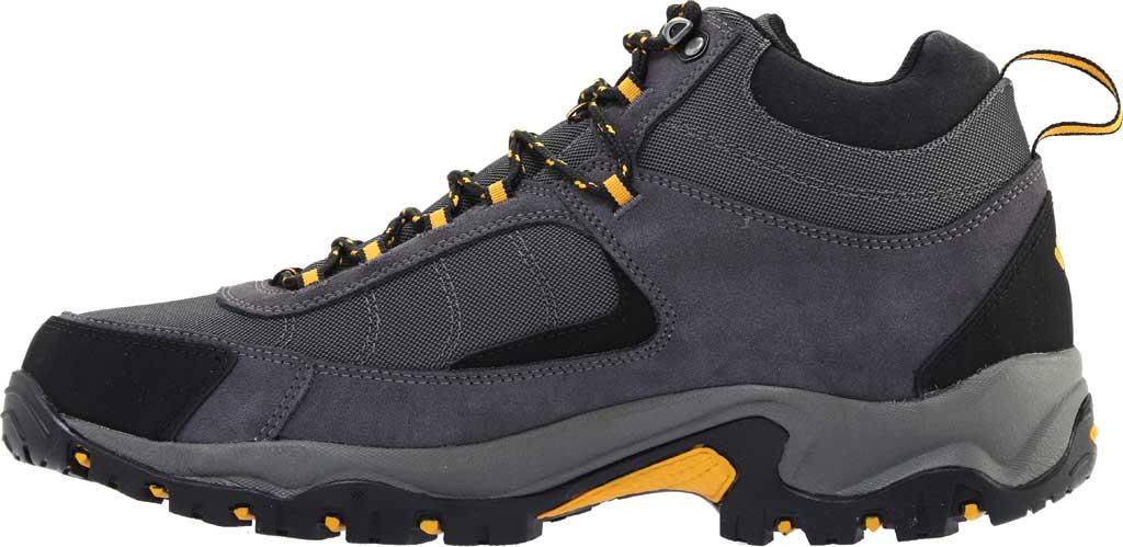 Men's Columbia Granite Ridge Mid Waterproof Hiking Boot, Dark Grey/Golden Yellow, large, image 3