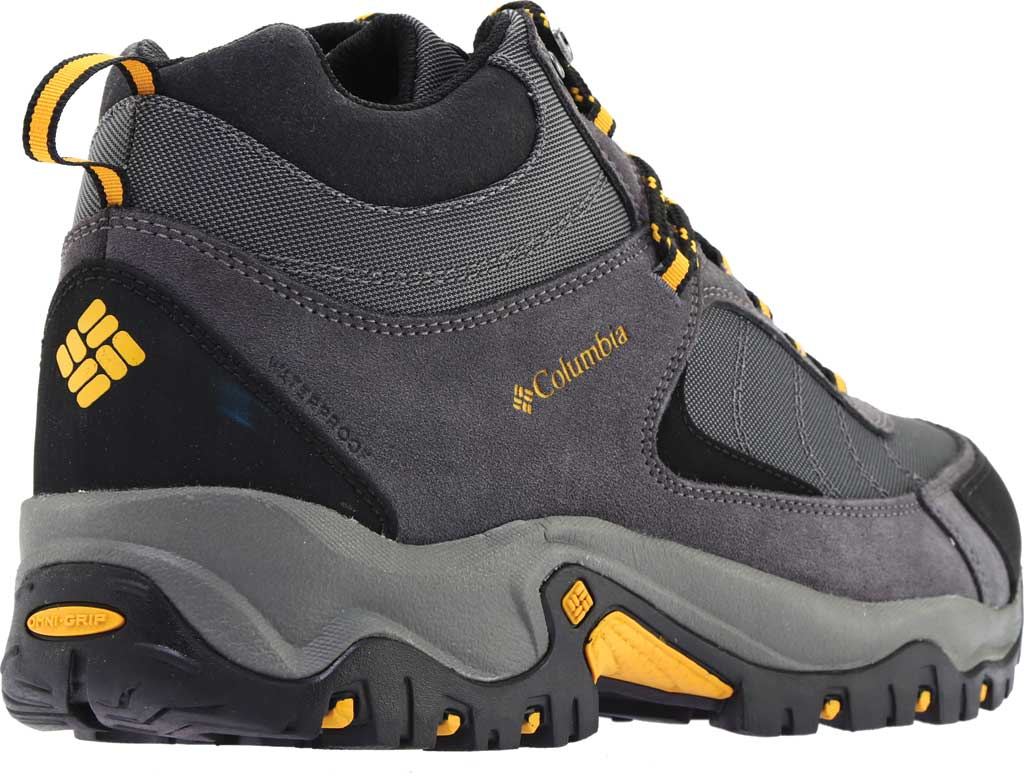 Men's Columbia Granite Ridge Mid Waterproof Hiking Boot, Dark Grey/Golden Yellow, large, image 4