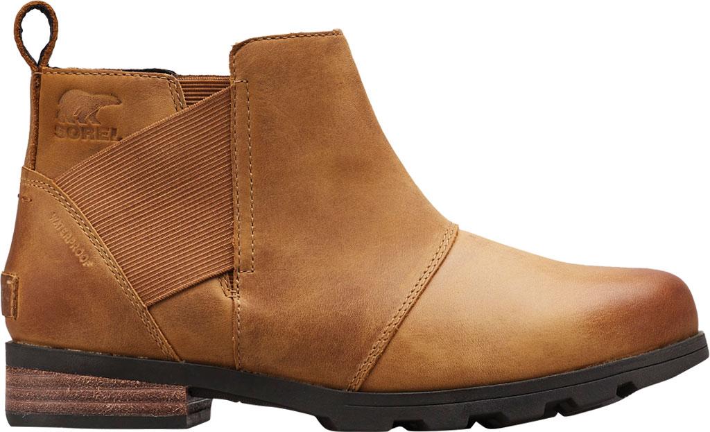 Women's Sorel Emelie Chelsea Bootie, Camel Brown Full Grain Leather, large, image 1