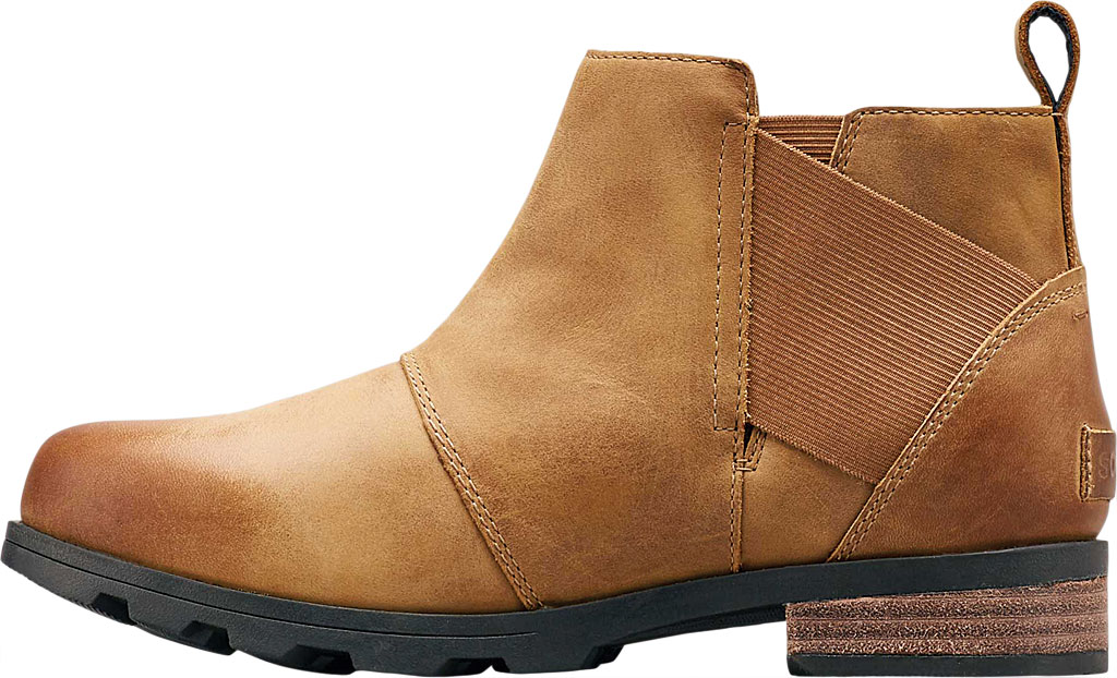 Women's Sorel Emelie Chelsea Bootie, Camel Brown Full Grain Leather, large, image 3
